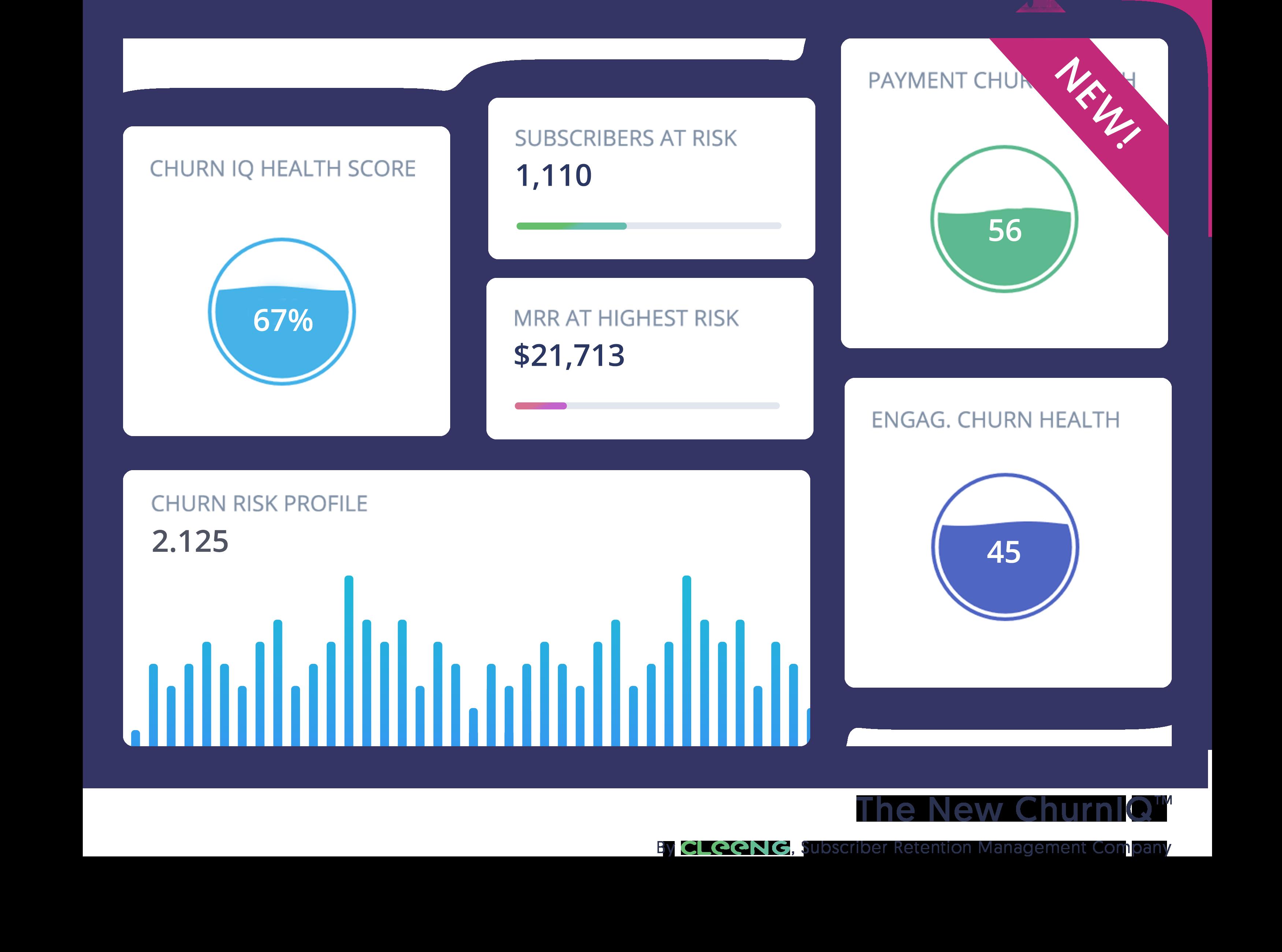 ChurnIQ grapghic - KPIs tracker