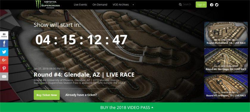 Supercross Live online portal